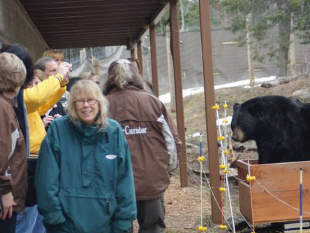 Sarah Paro at Bearkeeper Course with Ted