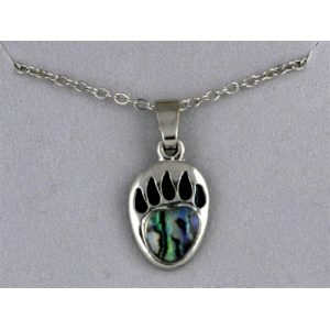 Abalone Bear Paw Necklace