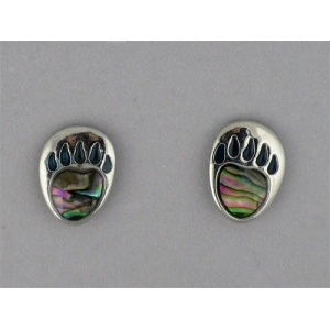 Abalone Bear Paw Stud Earrings