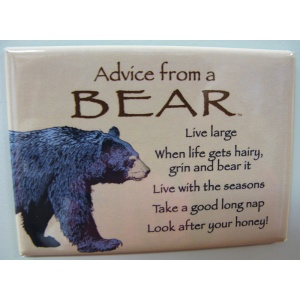 """Advice from a Bear"" Magnet"