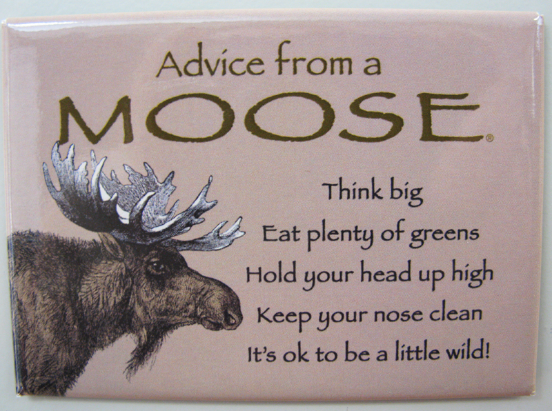 """Advice from a Moose"" Magnet"