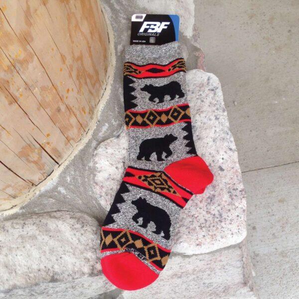 Sock: Bear Blanket Motif