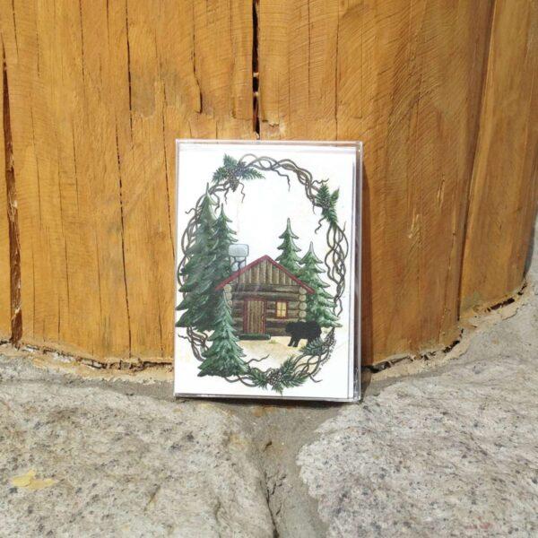 Rustic Cabin Notecard