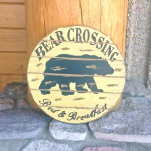 Bear Crossing B& B Sign