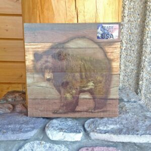 Wood Scene Bear Wall Plaque