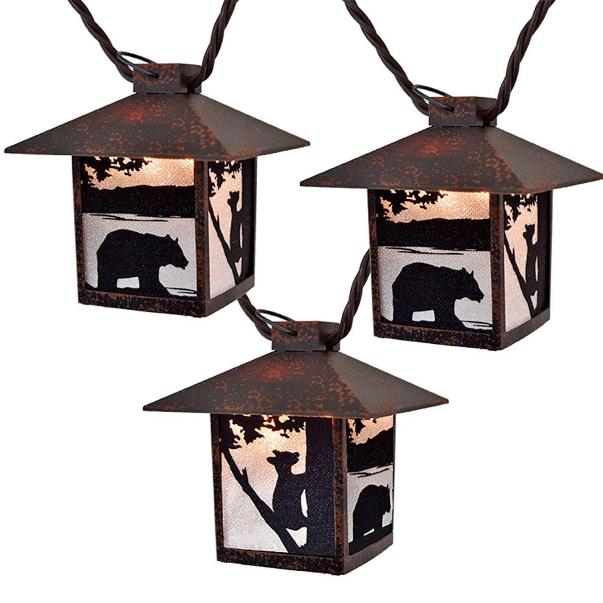 Bear Lantern Light Set