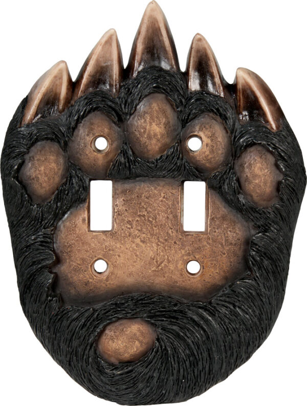 Bear Paw Double Switch Cover