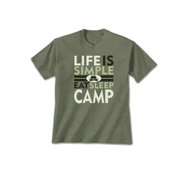 Life Is Simple Camp T-shirt