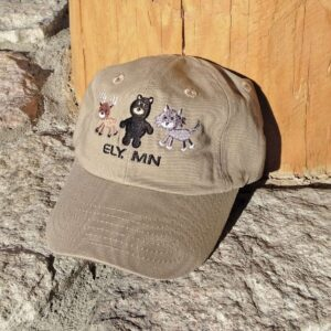 Moose Bear Wolf Kids Cap