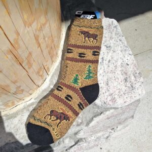 Sock: Northwoods Moose