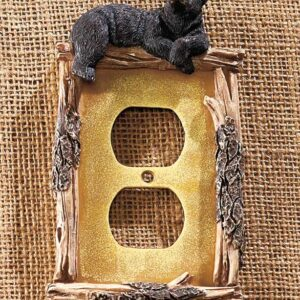 Rustic Bear Receptable