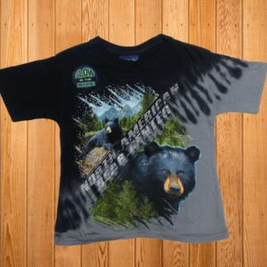 Black Bear Color Split Tshirt (youth)