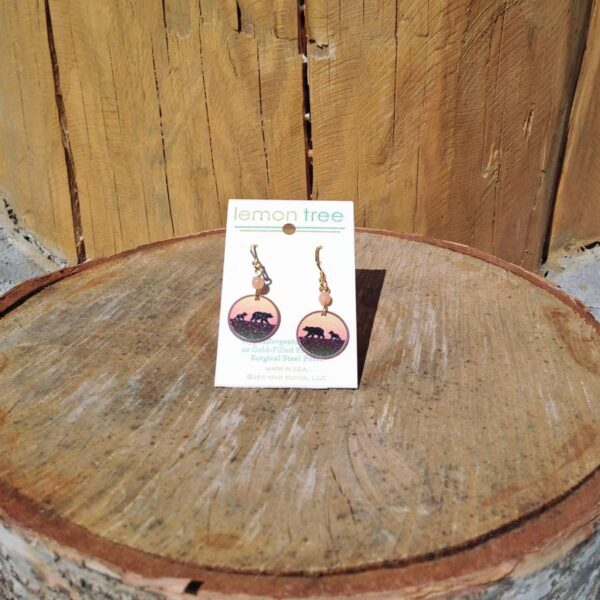 Bear & Cub Sunset Earring