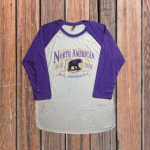 Purple 3/4 Sleeve Raglan Tee
