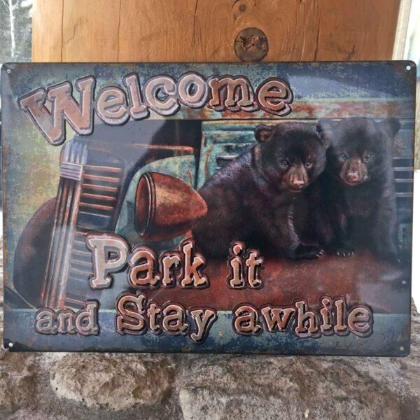 Park It Tin Sign