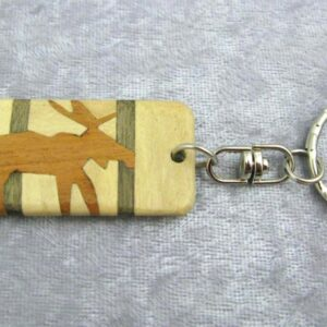Wooden Keychain: Moose