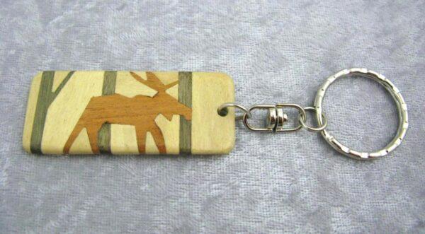 Wooden Keychain: Moose