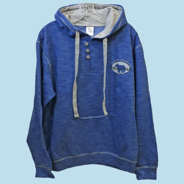 3 Button Royal Blue Hoody