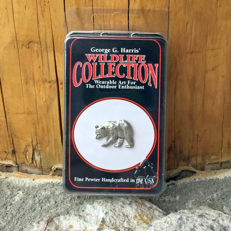 Pewter Pin: Black Bear