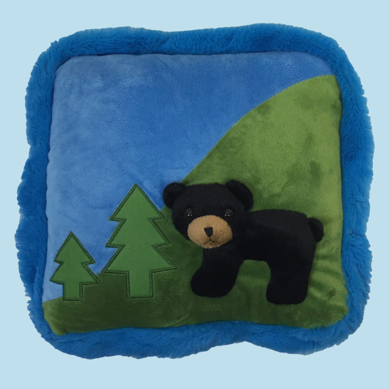 12″ Black Bear Pillow