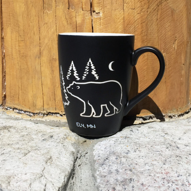 Etched Bear Mug