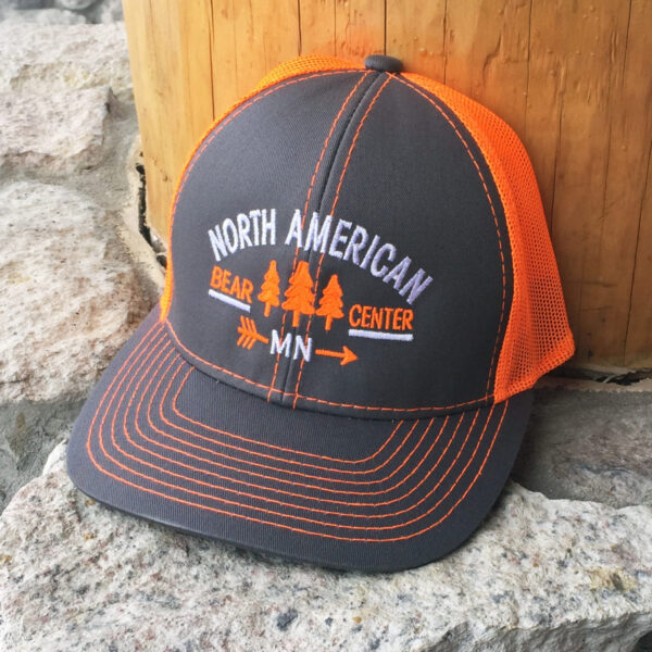 Neon Orange and Gray Baseball Cap