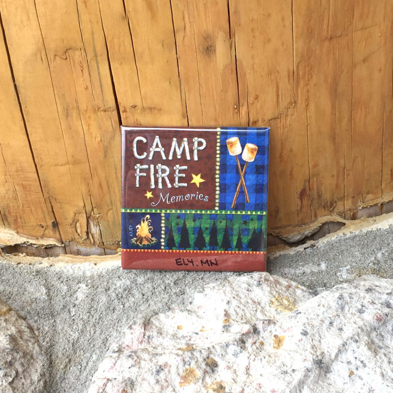 Camp Fire Memories Magnet