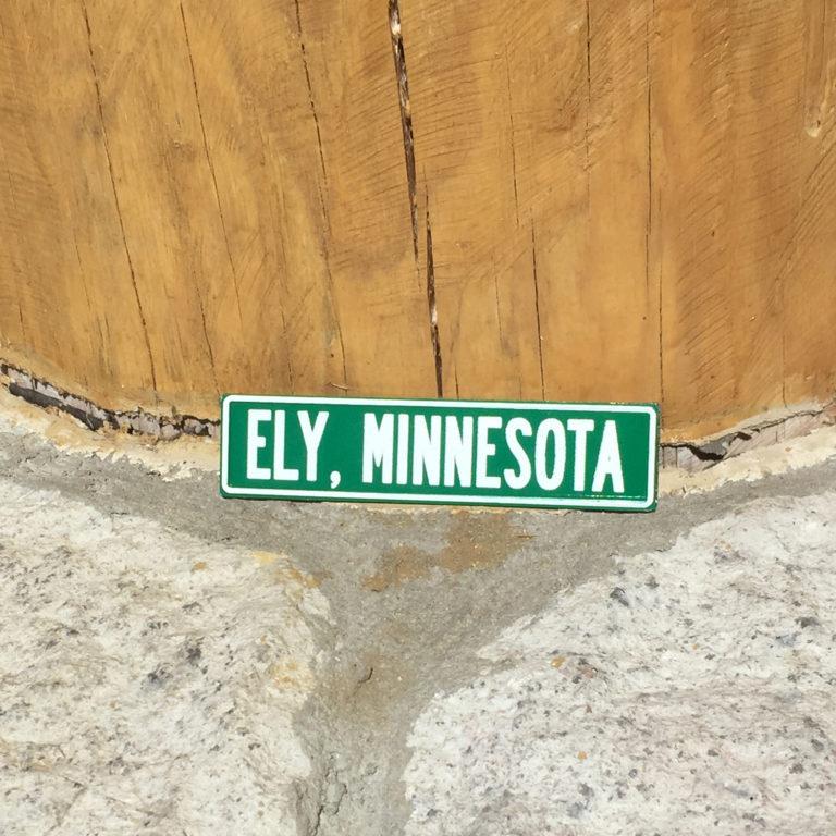 Ely, Minnesota Street Sign Magnet