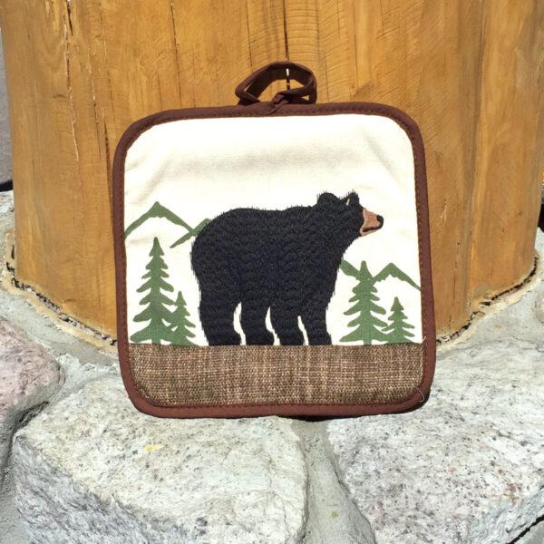 Black Bear Applique Hot Pad