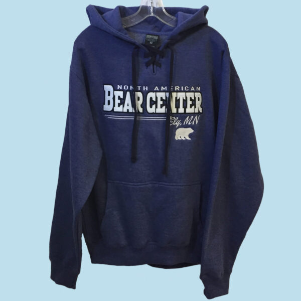 Heather Blue Lace Up Hoody
