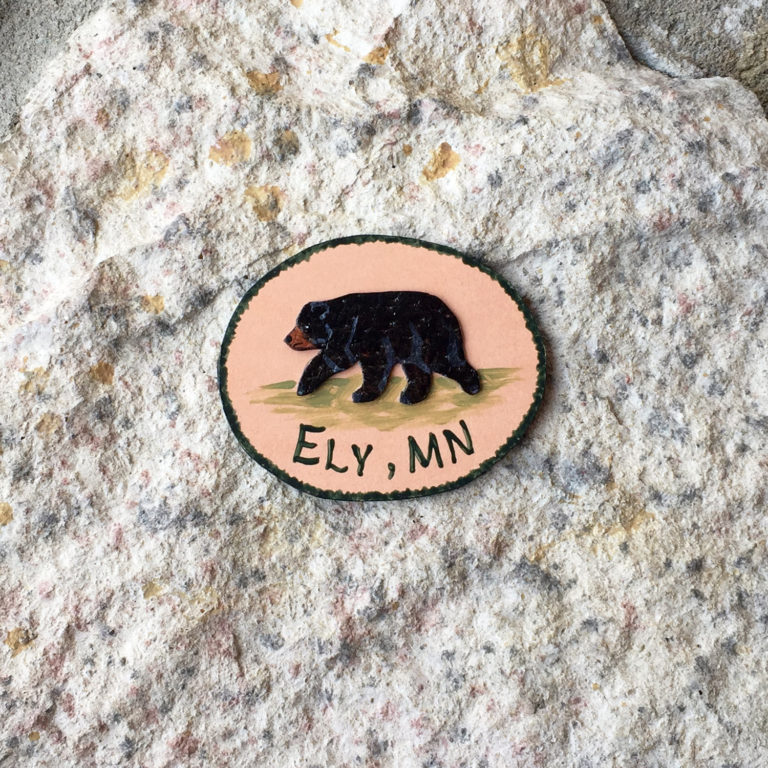 Leather Magnet: Black Bear