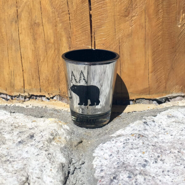 Metallic Bear Shotglass
