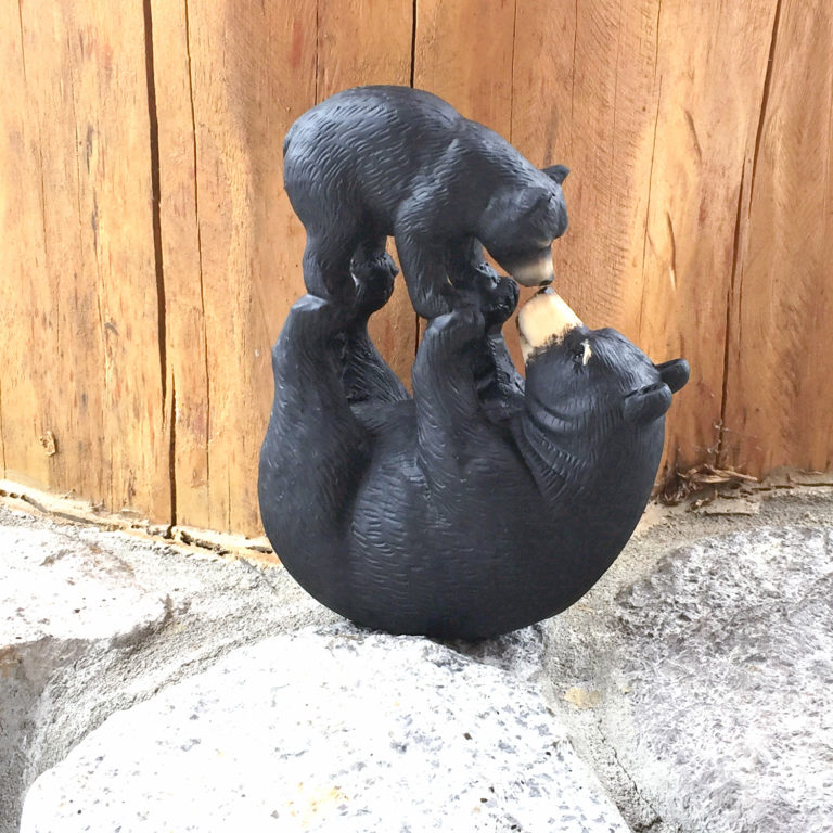 Mom & Cub Playing Figurine