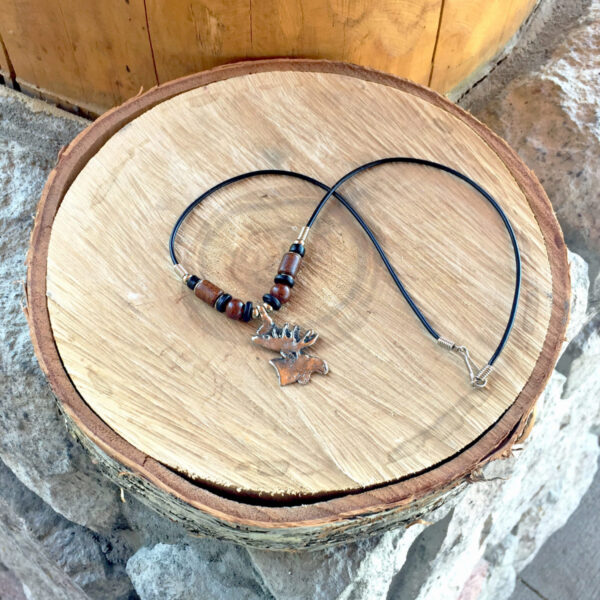Moose Necklace with Beads