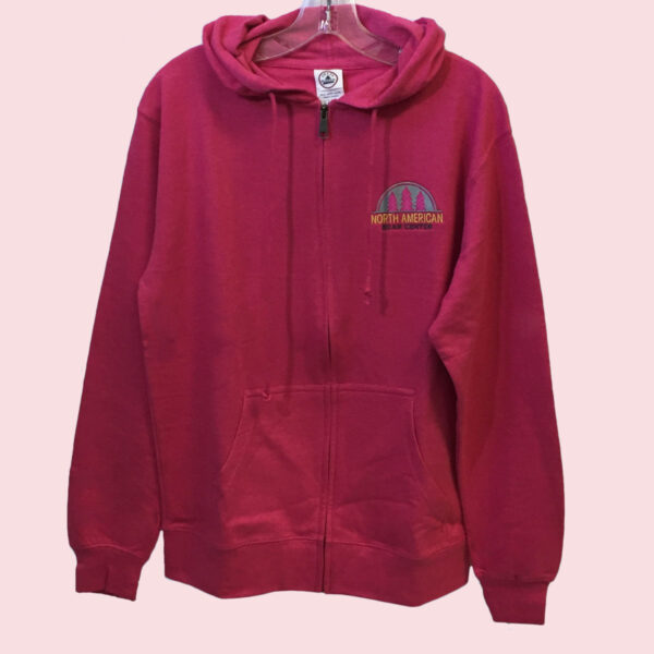 Full Zip Pink Hoody