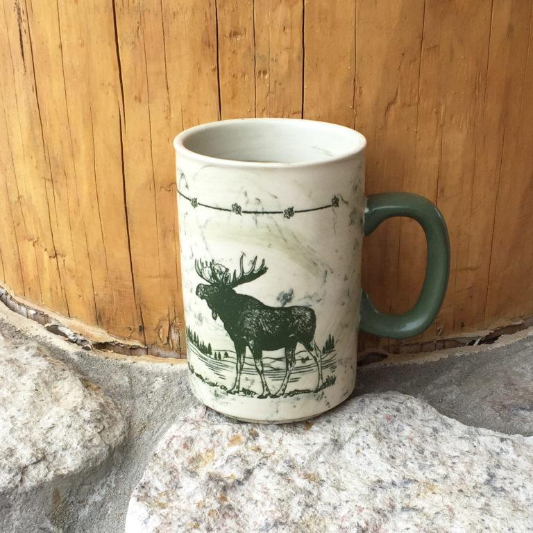 Moose Sketch Style Mug