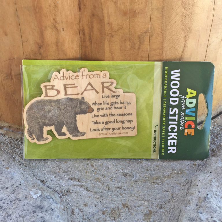 Advice From A Bear Wood Sticker