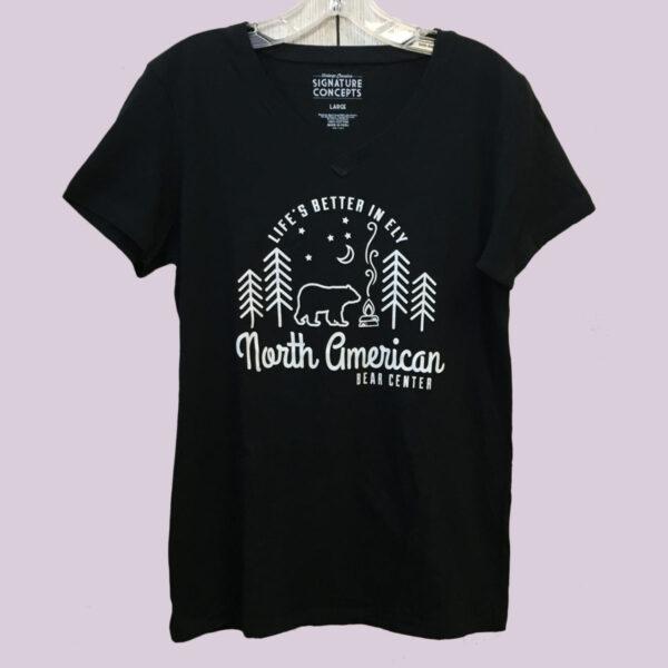 Black Ladies V-neck T-shirt
