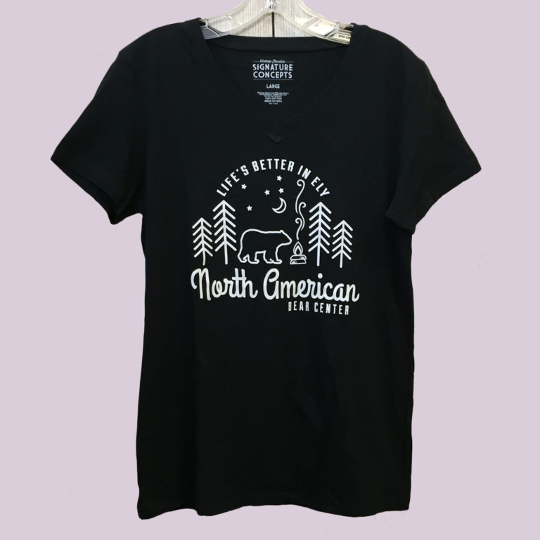 Black Ladies V-neck T-shirt