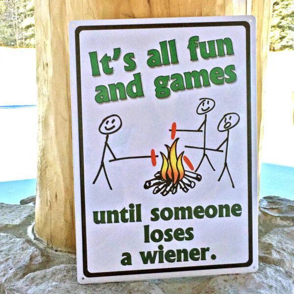 It's All Fun & Games Tin Sign