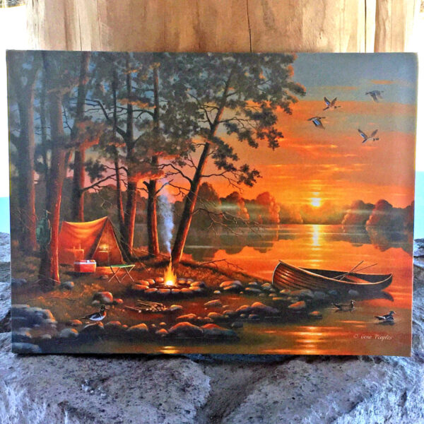 R&R LED Camping Canvas Picture