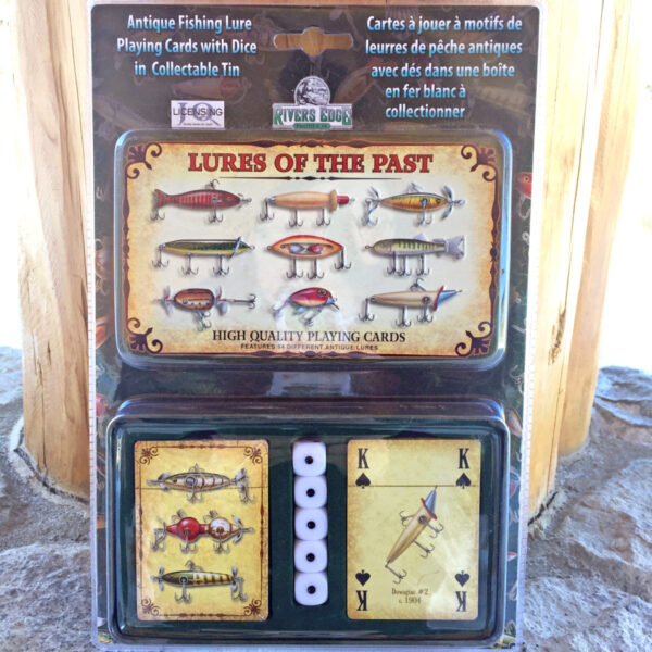 Fishing Lures of the Past Cards and Dice Tin