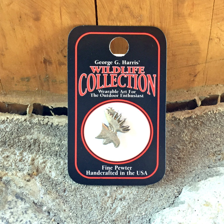 Pewter Pin: Mini Moose Head