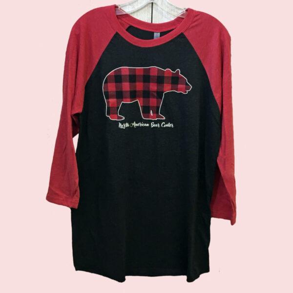 Plaid Bear 3/4 Sleeve Shirt