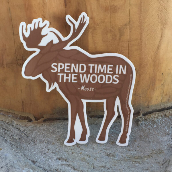 Moose Die Cut Sticker
