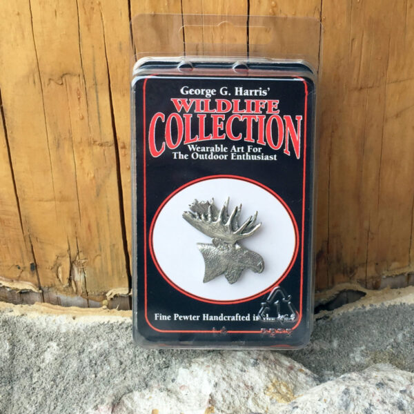 Pewter Moose Head Keychain