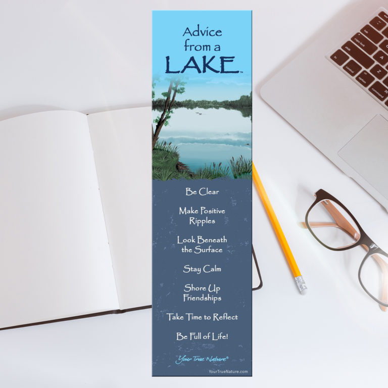 Bookmark: Advice from a Lake