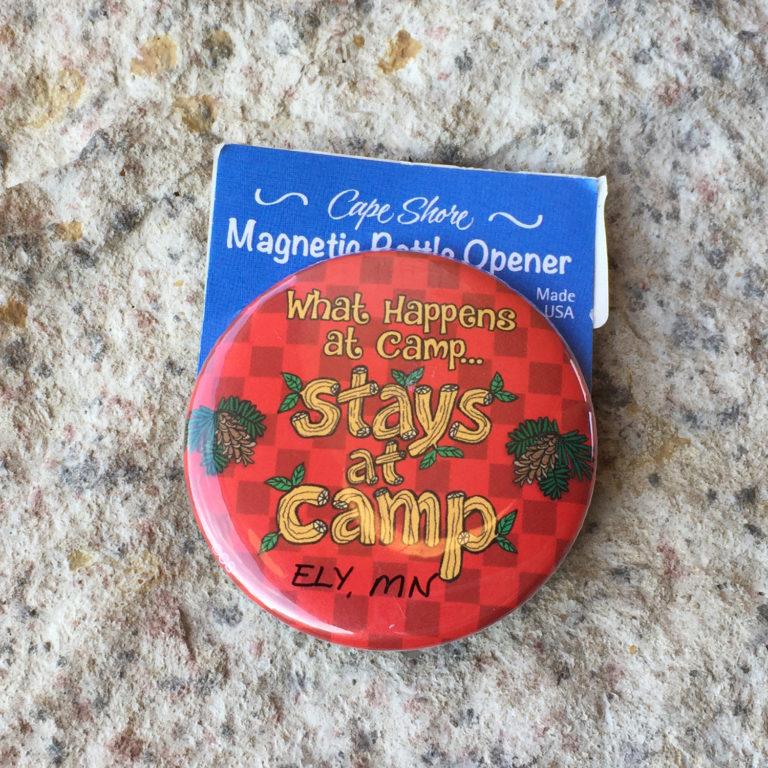 Magnet/Bottle Opener What Happens at Camp