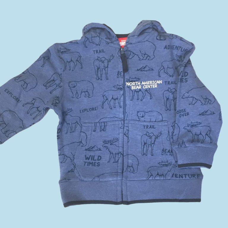 Toddler Full Zip Hoody Blue