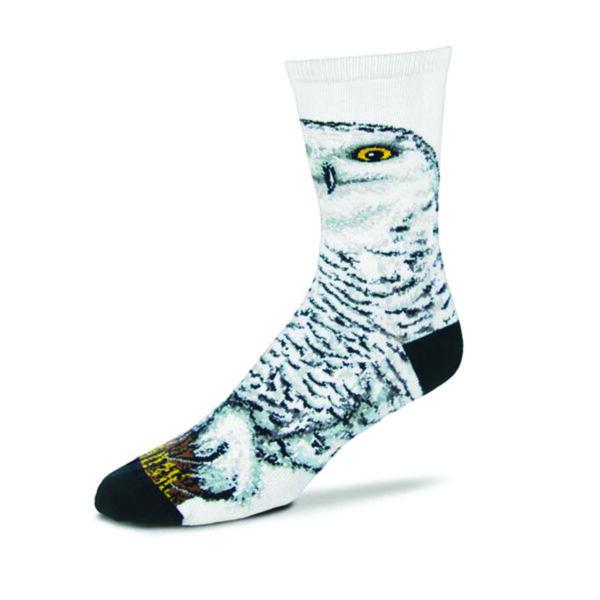 Realistic Snowy Owl Sock